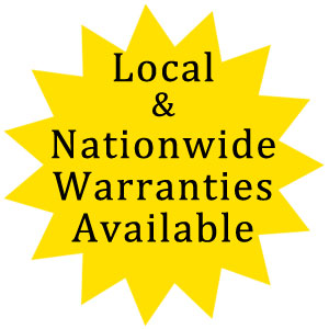 Local and Nationwide Warranties Available